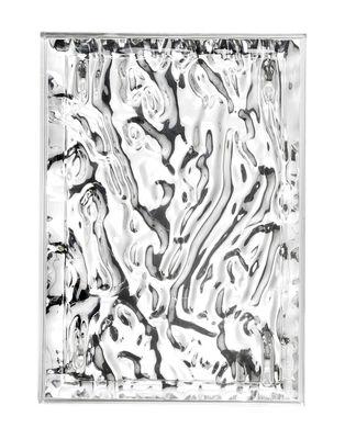 Arts de la table - Plateaux et plats de service - Plateau Dune Small / 46 x 32 cm - Métallisé - Kartell - Chromé - PMMA métallisé