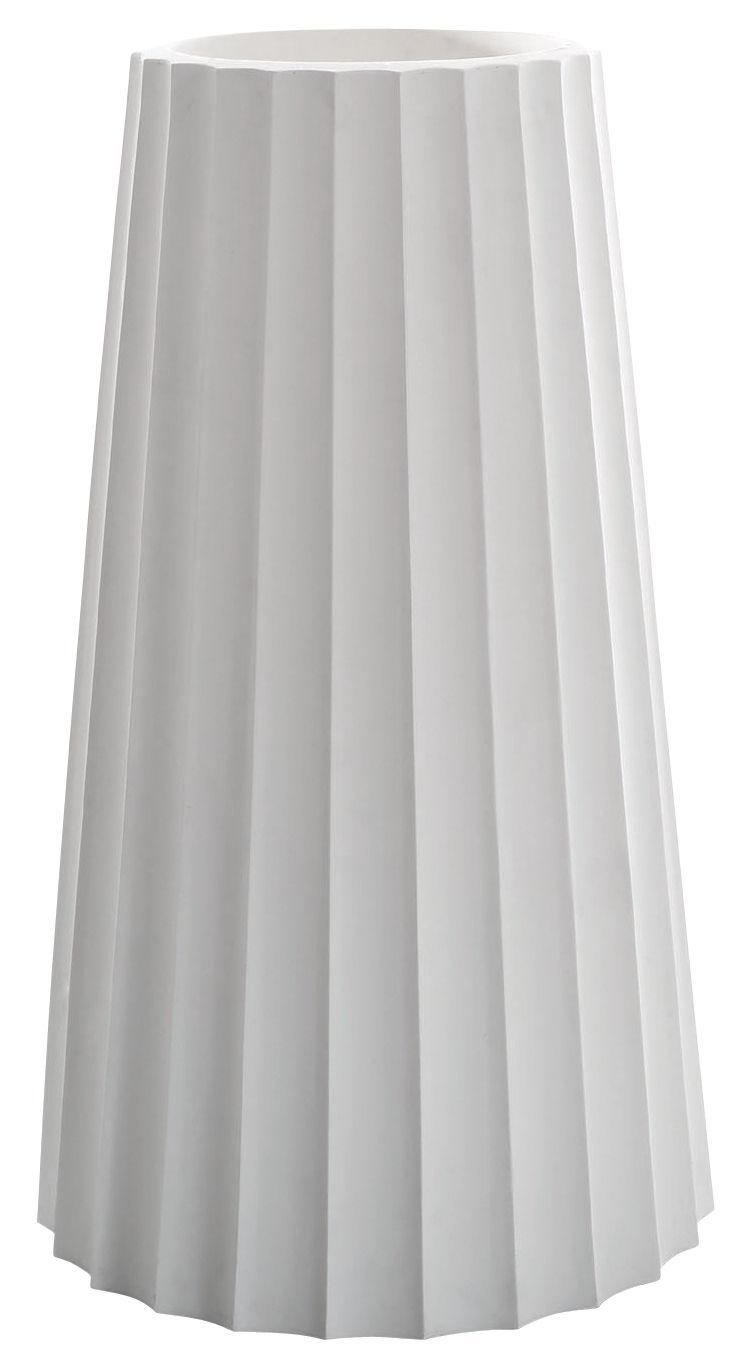 pot de fleurs eufronio serralunga blanc h 123 x 72. Black Bedroom Furniture Sets. Home Design Ideas