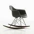 RAR - Eames Fiberglass Armchair Rocking chair - / (1950) - Black legs & dark wood by Vitra