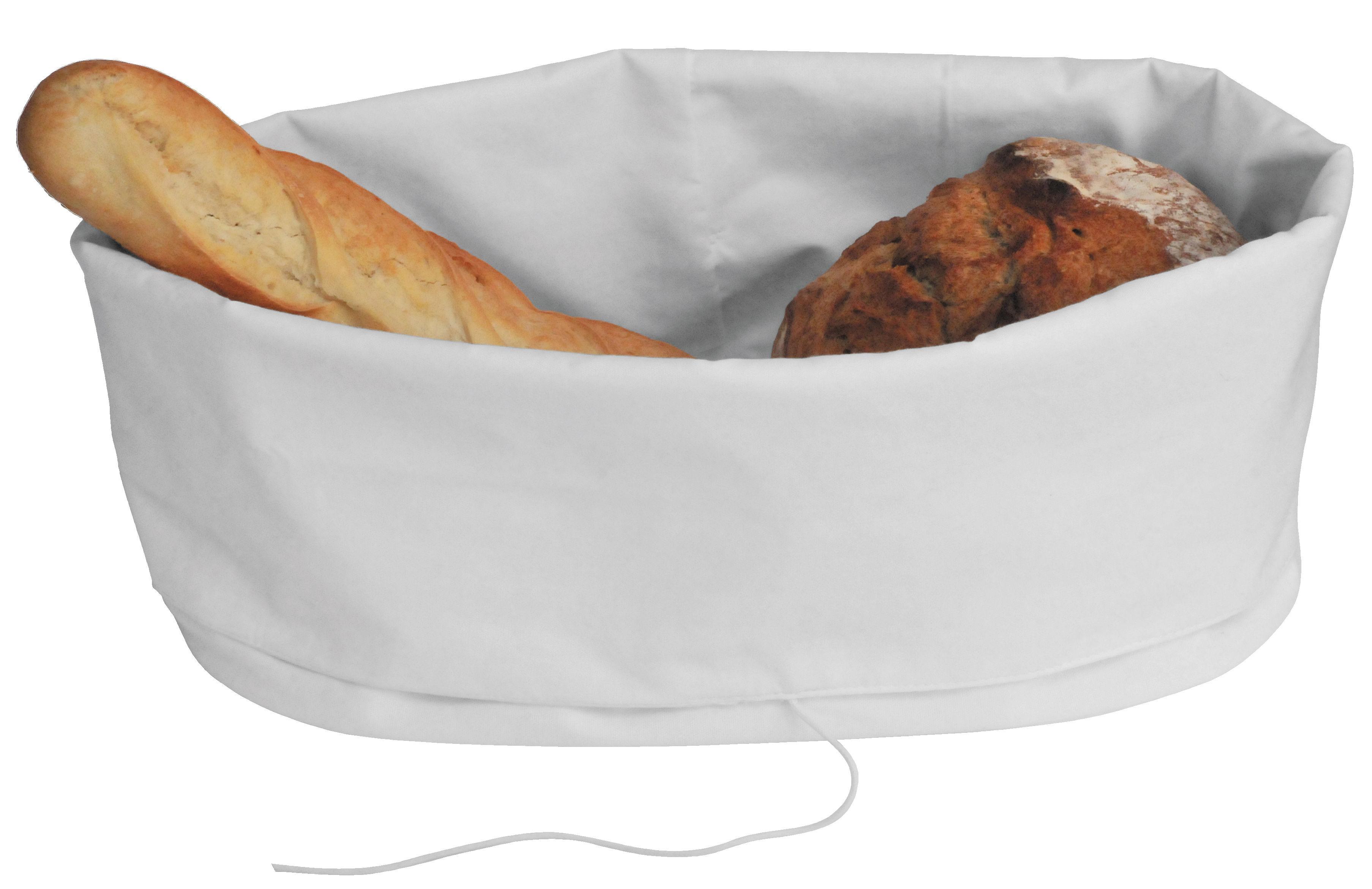Arts de la table - Corbeilles, centres de table - Sac à pain / Pour conserver et servir - L'Atelier du Vin - Blanc - Polyester
