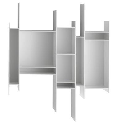 Arredamento - Scaffali e librerie - Libreria Randomito / L 81 x H 96 cm - MDF Italia - Bianco laccato - Fibra di legno laccata