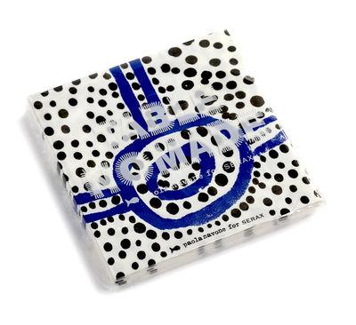 Serviettes en papier / Set de 20 - 33 x 32 cm - Serax bleu,noir en papier