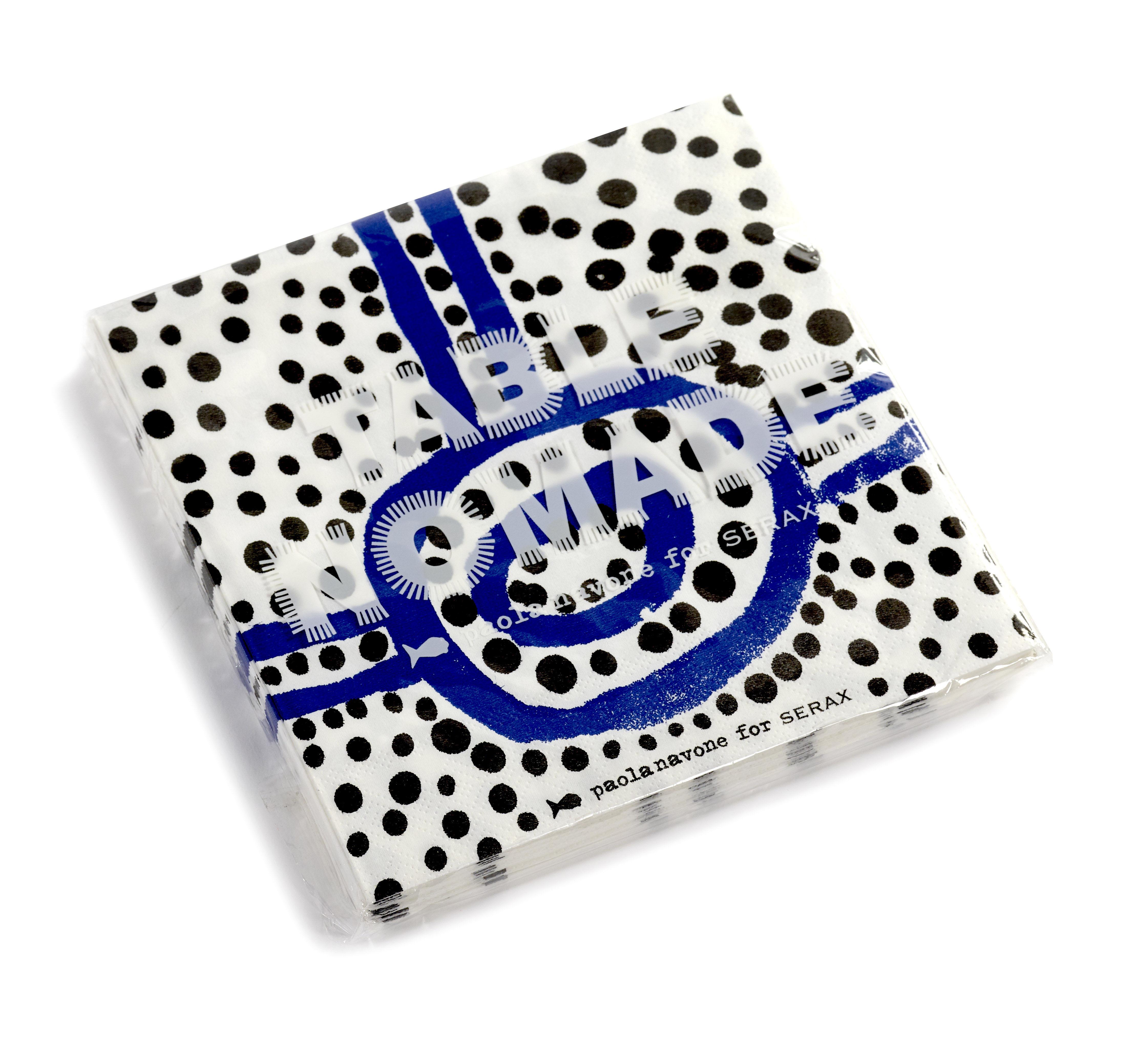 Arts de la table - Nappes, serviettes et sets - Serviettes en papier / Set de 20 - 33 x 32 cm - Serax - Bleu & noir - Papier