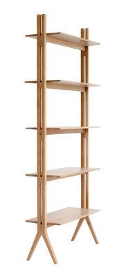 Furniture - Bookcases & Bookshelves - Pero Shelf - Oak / L 90 x H 210 cm by Ercol - Oak - Solid oak
