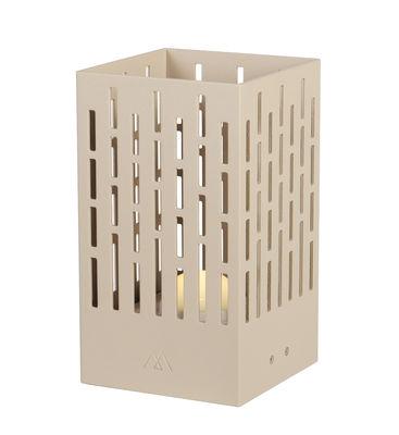Lighting - Table Lamps - La Lampe Pose 04 Solar lamp - / LED - Wireless by Maiori - Light taupe - Aluminium