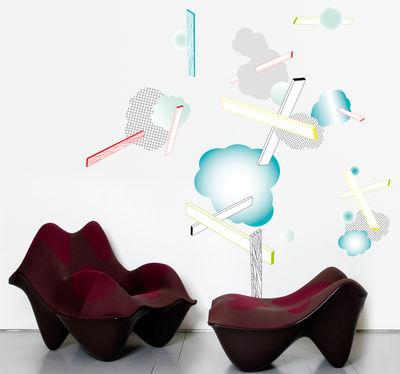 Dekoration - Stickers und Tapeten - Esquisse 2 Sticker - Domestic - Mehrfarbig - Vinyl