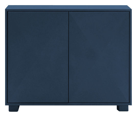 Furniture - Shelves & Storage Furniture - Diamant Storage - With doors by Tolix - Dark blue - Lacquered recycled steel