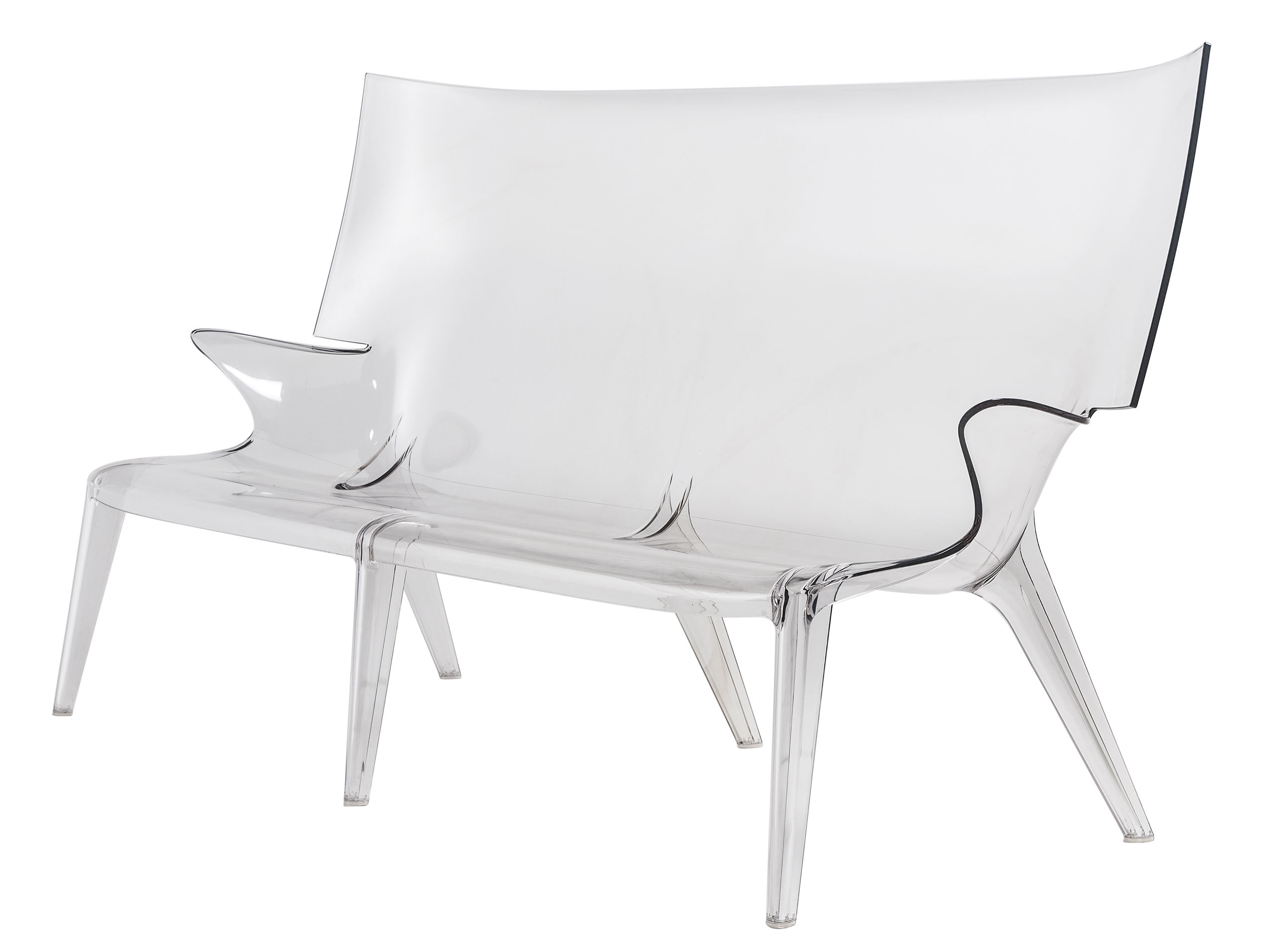 Furniture - Sofas - Uncle Jack Straight sofa by Kartell - Clear - Polycarbonate