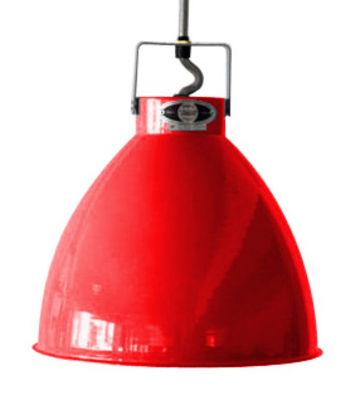 Suspension Augustin Large Ø 36 cm - Jieldé rouge brillant en métal