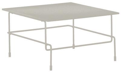 Table basse Traffic / 60 x 60 cm - Pour l'extérieur - Magis blanc en métal/pierre
