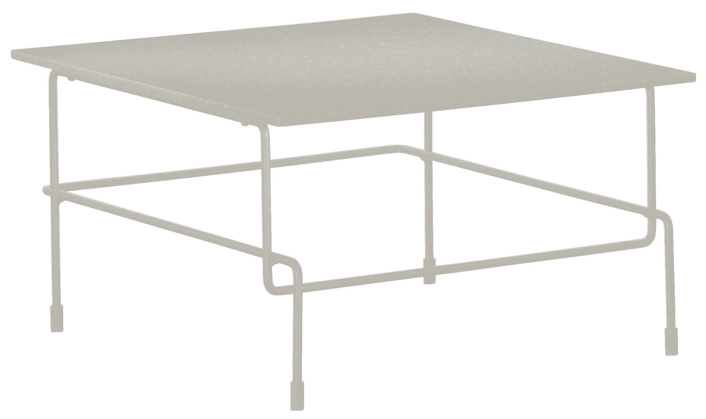 Mobilier - Tables basses - Table basse Traffic / 60 x 60 cm - Pour l'extérieur - Magis - Blanc - Acier verni, Pierre acrylique