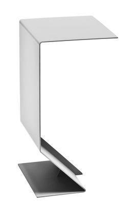 Table d'appoint Mark / L 27 x H 51 cm - Moroso gris en métal
