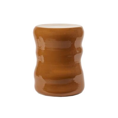 Mobilier - Tables basses - Table d'appoint Pawn Organic / Tabouret - Céramique - Serax - Terracotta / Ø 40 x H 45 cm - Terre cuite émaillée