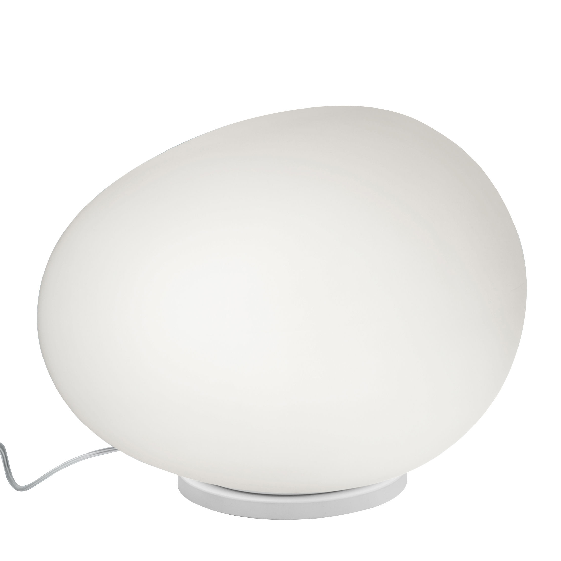 Lighting - Table Lamps - Gregg Midi LED Table lamp - / Glass version by Foscarini - L 21 cm / White - Blown glass, Varnished metal