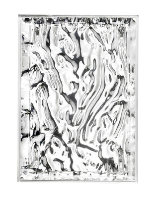 Tischkultur - Tabletts - Dune Small Tablett / 46 x 32 cm - metallic - Kartell - Chrom-glänzend - Metallisierte PMMA