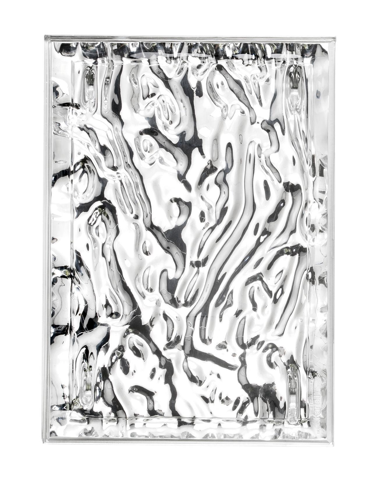 Tischkultur - Tabletts - Dune Small Tablett / 46 x 32 cm - metallic - Kartell - Chrom-glänzend - PMMA métallisé