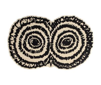 Tapis Strix / 160 x 105 cm - Tufté main - Moustache noir,beige en tissu