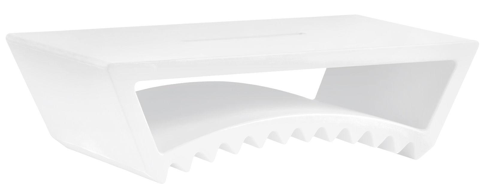 Arredamento - Tavolini  - Tavolino Tac - / 115 x 60 x H 33 cm di Slide - Bianco - polietilene riciclabile