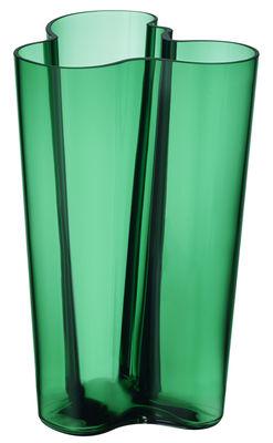 Déco - Vases - Vase Aalto / H 25 cm - Iittala - Emeraude - Verre soufflé bouche