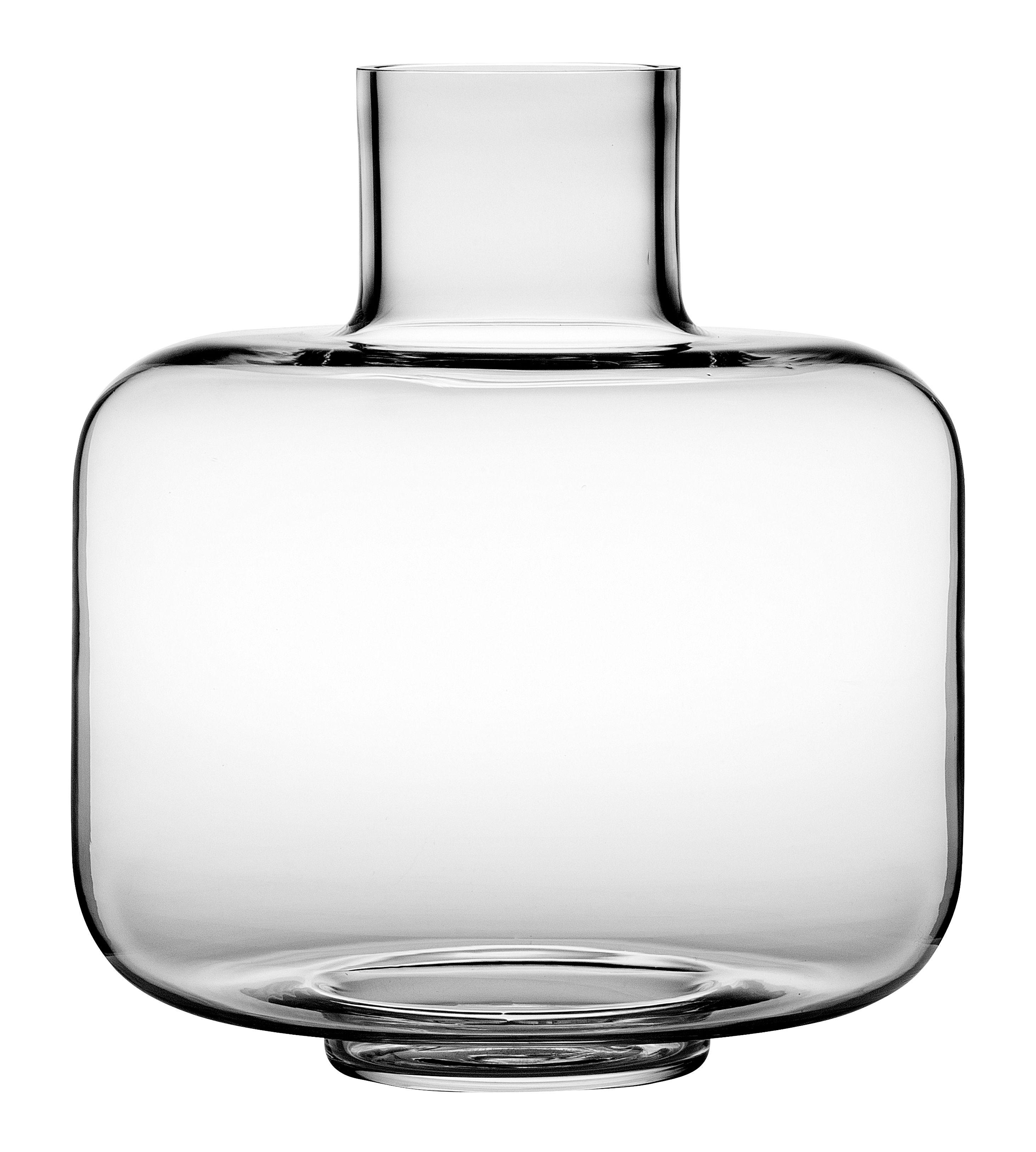 Dekoration - Vasen - Ming Vase / Glas - Ø 22 cm x H 24 cm - Marimekko - Transparent - mundgeblasenes Glas