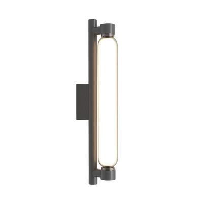 Lighting - Wall Lights - La Roche LED Wall light - / By Le Corbusier - 1920s reissue by Nemo - Matt grey - Glass, Painted aluminium