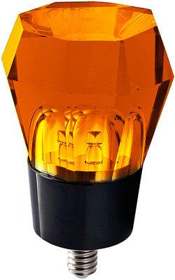 Luminaire - LED - Ampoule LED E14 Crystaled / Octogonale - 3W - Seletti - Ambre - Cristal