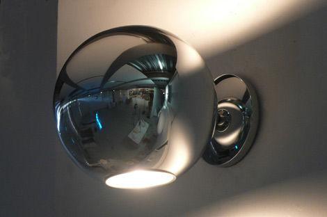 Globo di luce applique vetro metallizzato by fontana arte made