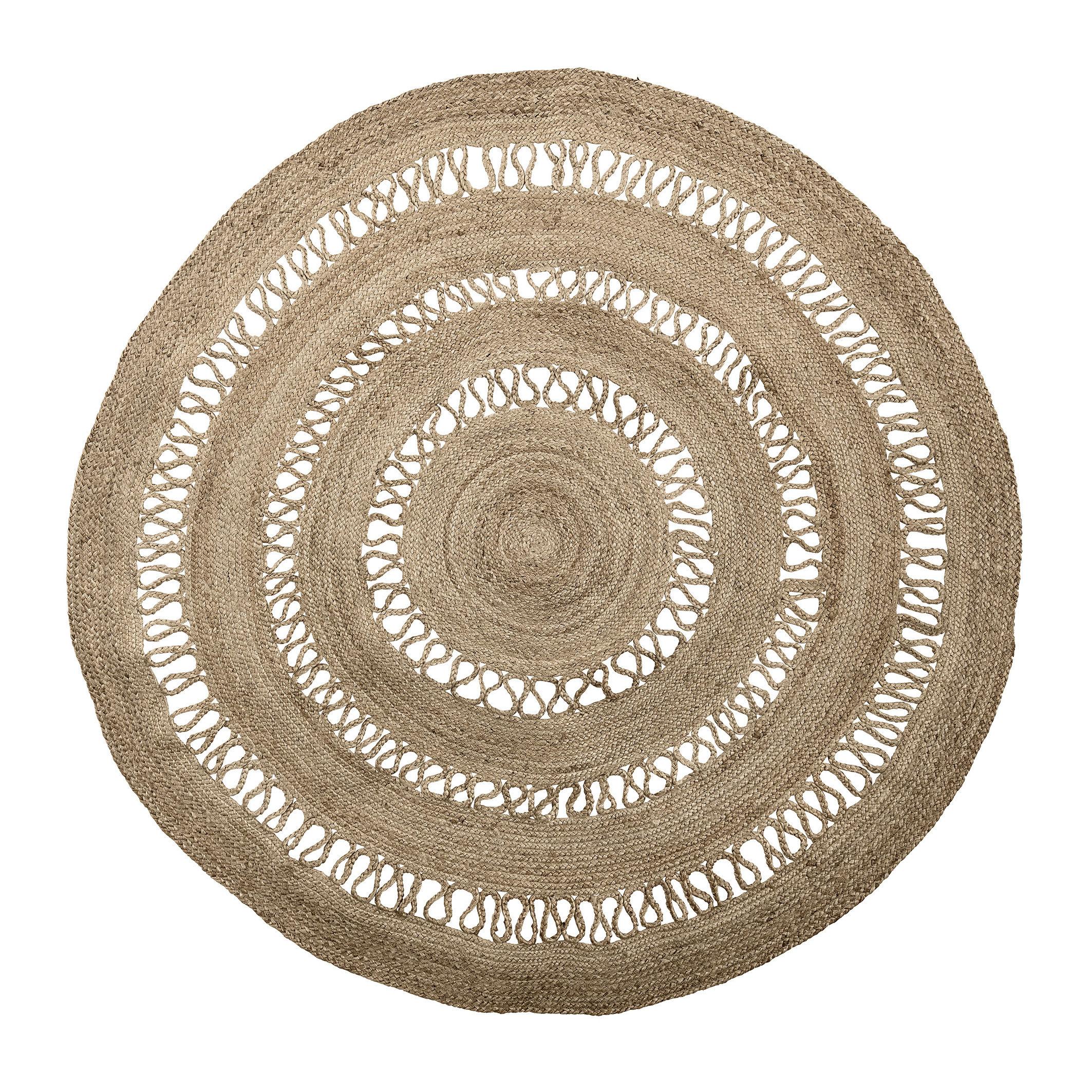 Dekoration - Teppiche - Außenteppich / Jute - Ø 180 cm - Bloomingville - Jute Natur - Jute, natur