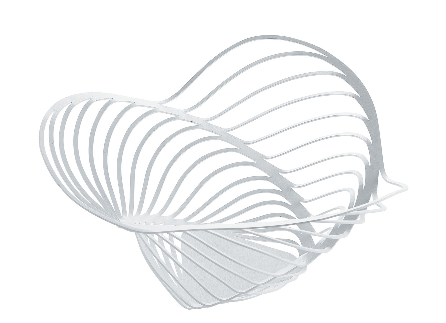 Tableware - Fruit Bowls & Centrepieces - Trinity Basket - Ø 26 x H 12 cm by Alessi - White - Painted steel