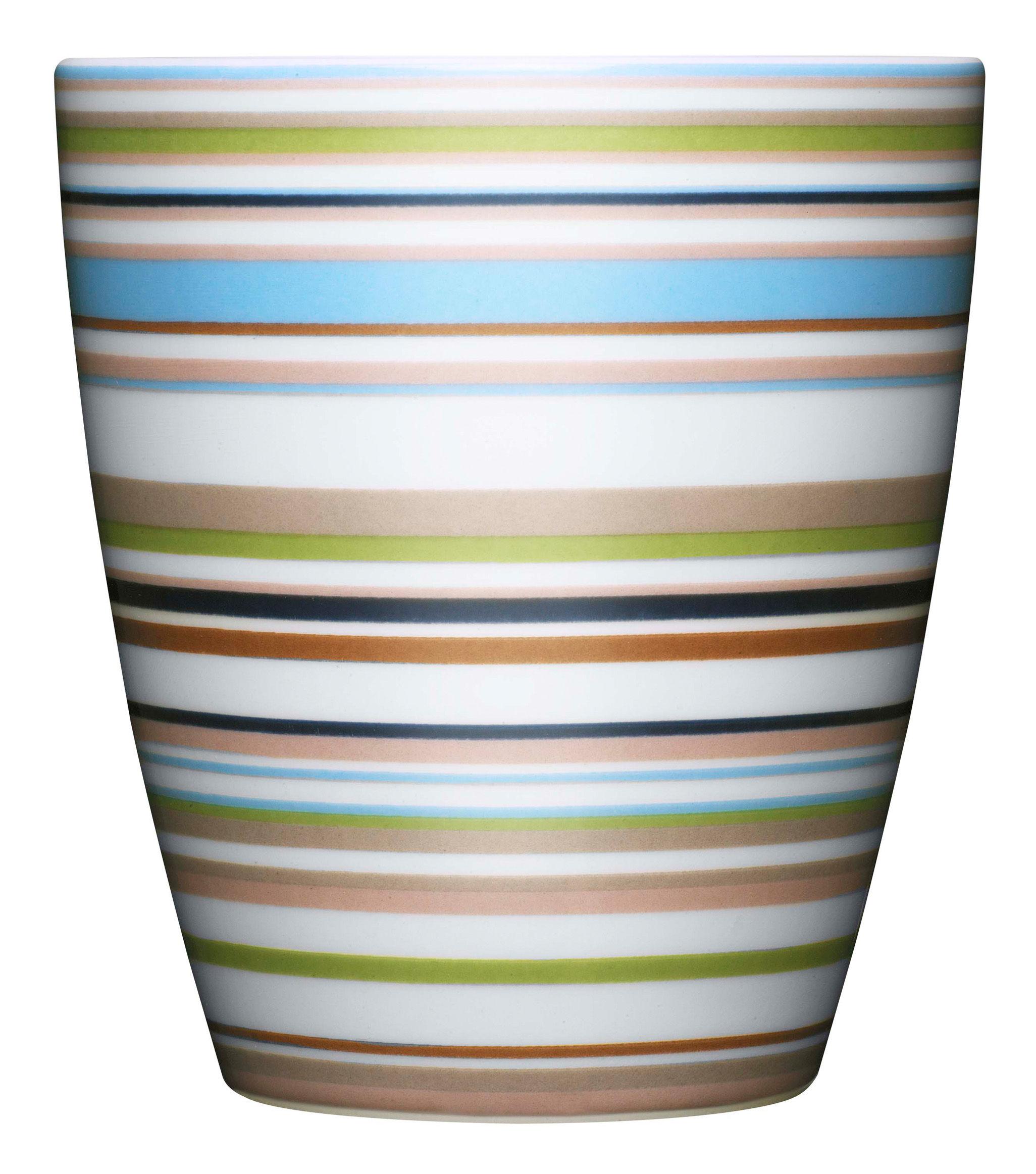 Tischkultur - Tassen und Becher - Origo Becher - Iittala - Beige Streifen - Porzellan