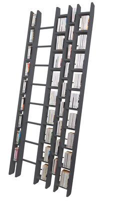 Bibliothèque Hô + / L 96 x H 240 cm - La Corbeille gris en bois