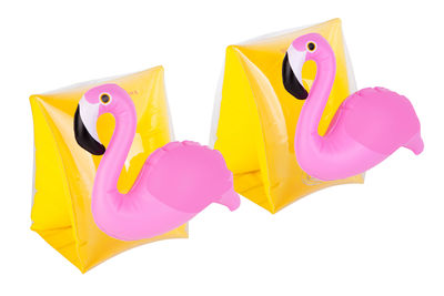 Déco - Pour les enfants - Brassards enfant / flamant rose - 3 ans + - Sunnylife - flamant rose / Jaune & rose - PVC haute résistance