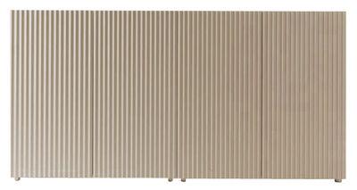Buffet Leon 4 portes - Horm blanc/bois naturel en bois