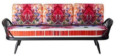 Mobilier - Canapés - Canapé droit Studio Couch / 3 places - Edition spéciale by Timorous Beasties - Ercol - Multicolore / Structure : noire - Hêtre massif, Mousse, Orme massif, Tissu