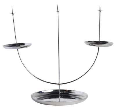 Decoration - Candles & Candle Holders - Candelabra pin Candelabra by ENOstudio - Steel - Stainless steel