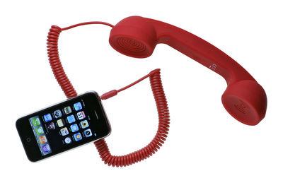 Déco - Tendance humour & décalage - Combiné téléphonique POP Phone pour iPhone, iPad, smartphone - Native Union - Rouge - Matière plastique