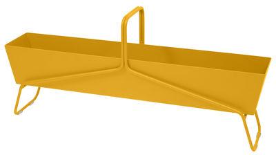 Outdoor - Vasi e Piante - Fioriera Basket lunga / L 119 x H 54 cm - Fermob - Miele - Acciaio, Alluminio