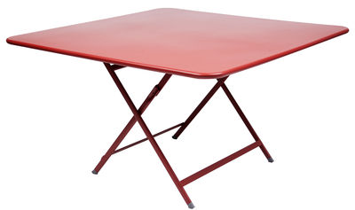 Outdoor - Garden Tables - Caractère Foldable table by Fermob - Poppy - Lacquered steel
