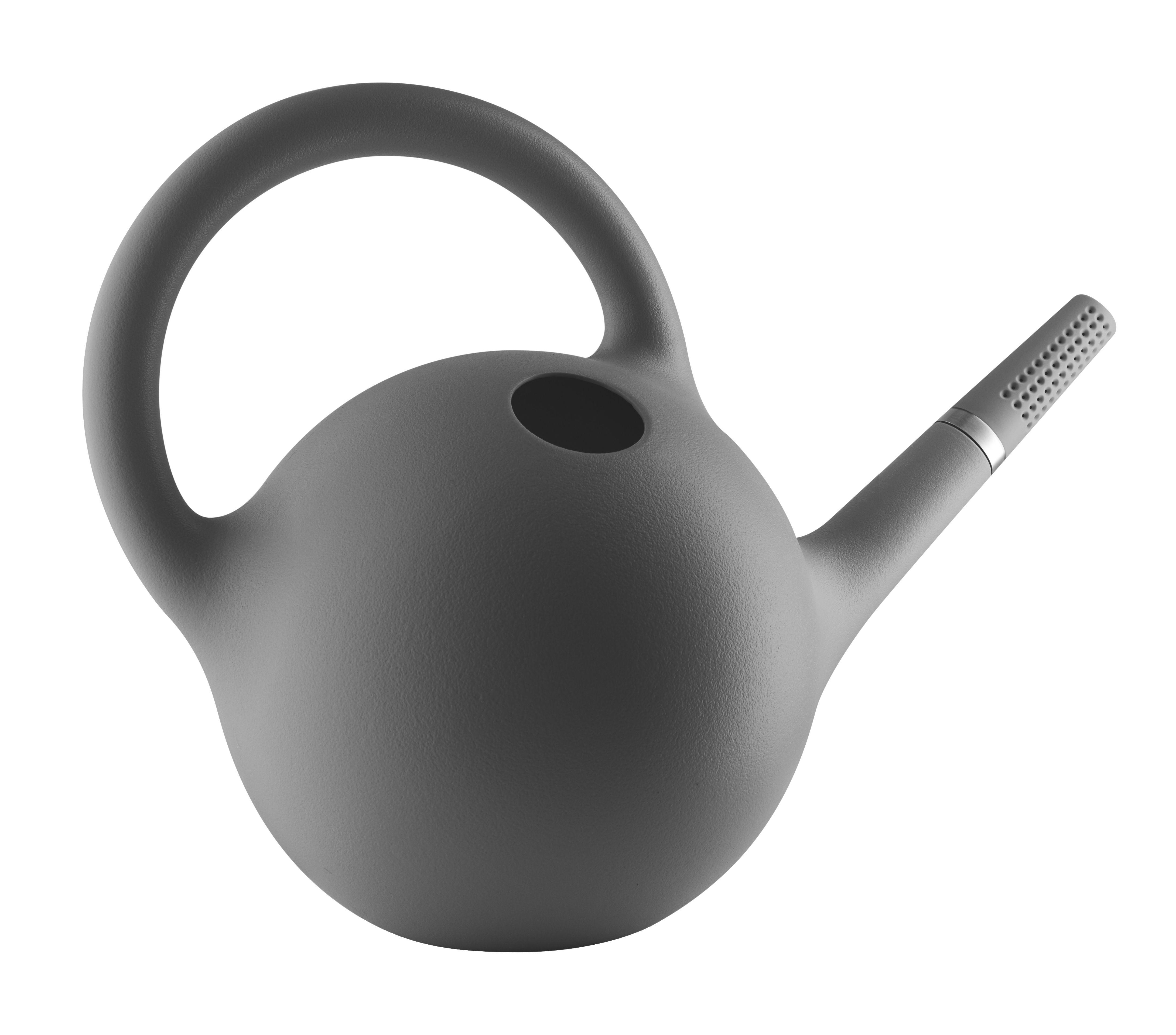 Outdoor - Töpfe und Pflanzen - Globe Gießkanne / 9 l - Eva Solo - Grau - Plastik, rostfreier Stahl