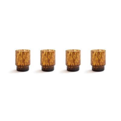 Tableware - Wine Glasses & Glassware - Tortoise Glass - / Set of 4 - Tortoise shell by & klevering - Amber - Glass