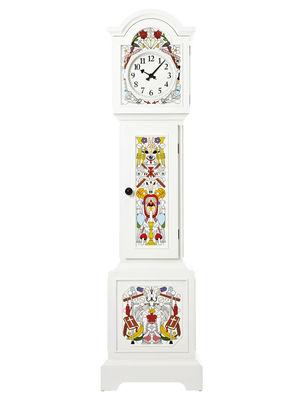 Horloge Altdeutsche / Peint à la main - Moooi blanc,multicolore en bois