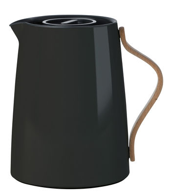Tableware - Tea & Coffee Accessories - Emma Insulated jug - 1 L by Stelton - Black & wood - Beechwood, Lacquered stainless steel
