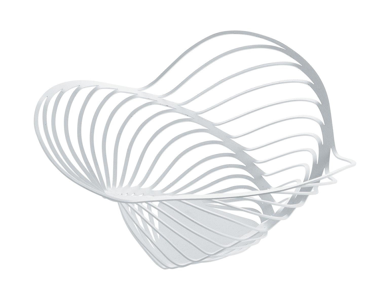 Tischkultur - Körbe, Fruchtkörbe und Tischgestecke - Trinity Korb / Ø 26 x H 12 cm - Alessi - Weiß - bemalter Stahl