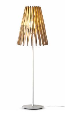 Lampadaire Stick 02 / Abat-jour Ø 50 x H 64 cm - Fabbian bois clair en bois