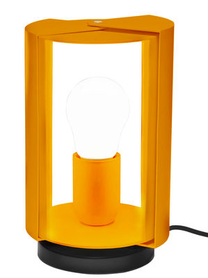Lampe de table Pivotante by Charlotte Perriand / Réédition 1962 - Nemo jaune en métal