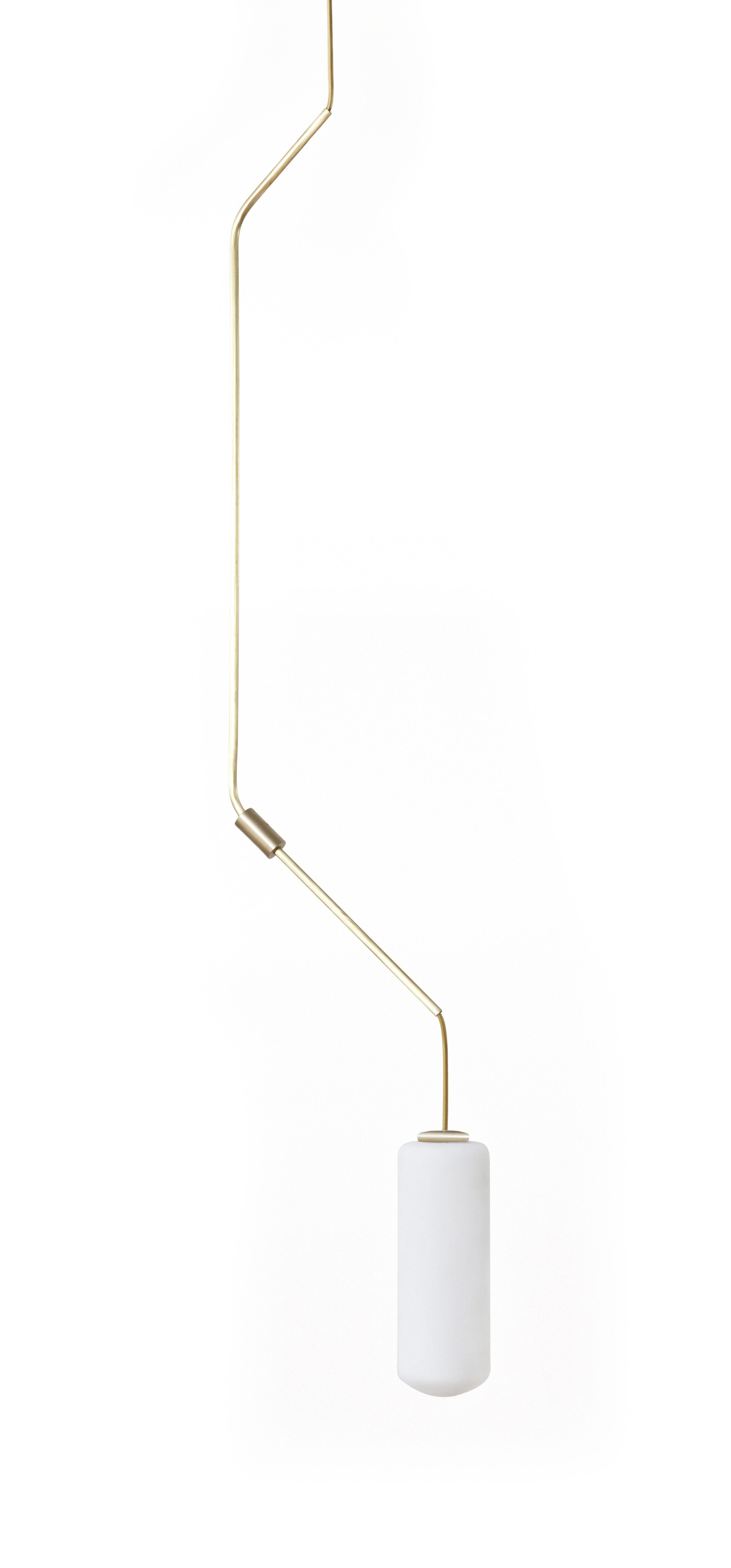 Leuchten - Pendelleuchten - Ventus n°2 - H 132 cm Pendelleuchte / Glas & Messing - Frama  - Nr. 2 / Messing - Messing, Opalglas