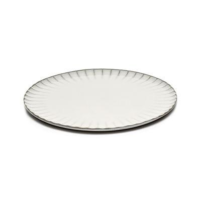 Tableware - Plates - Inku Plate - / Ø 27 cm - Stoneware by Serax - Ø 27 cm / White - Enamelled sandstone