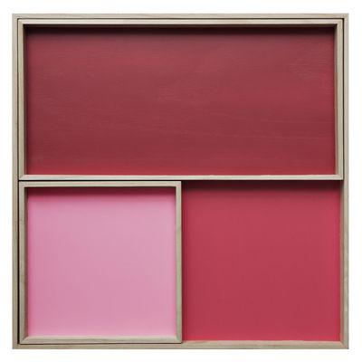 Arts de la table - Plateaux - Plateau Displays / Set de 3 - Nomess - Rouge - Bois de balsa