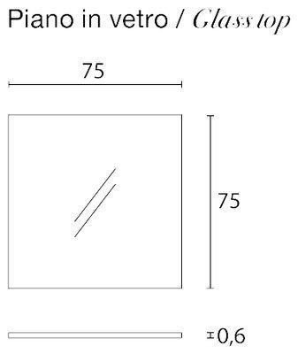 Plateau en verre / Pour table Rememberme - Casamania transparent en verre
