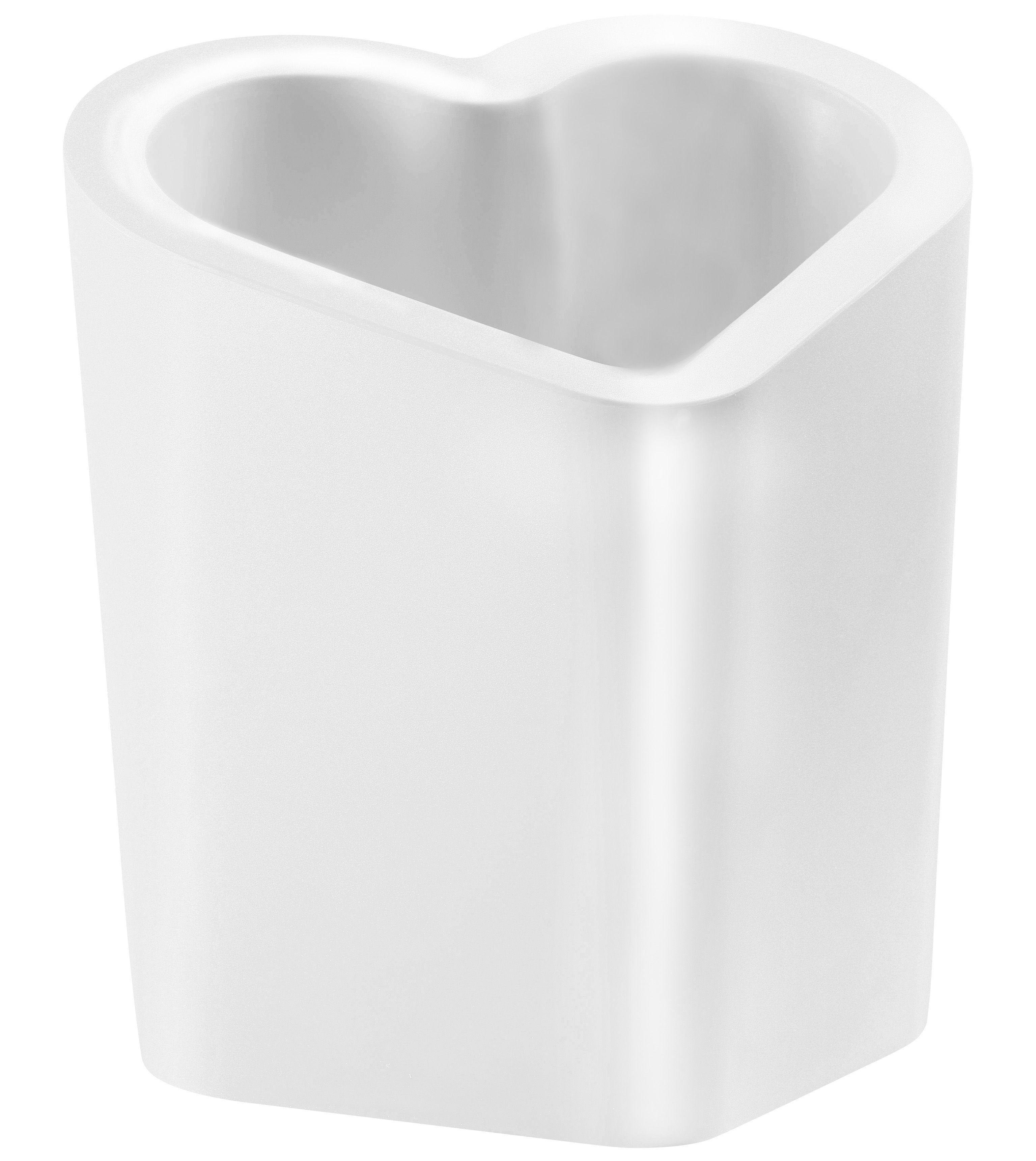 Jardin - Pots et plantes - Pot de fleurs Mon Amour / version laquée - Slide - Blanc laqué - Polyéthylène